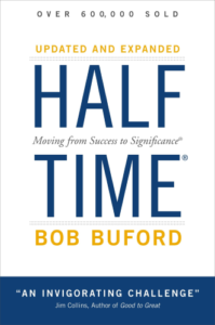 Half time Bob Buford Blue Yellow