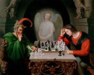 angel,chess,devil,king,thinking
