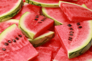 watermelon, green, red, fruit
