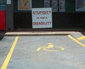 stupidity, disability, parking, wheelchair