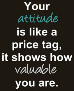 attitude, value, price, tag