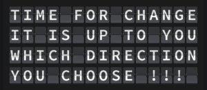 Direction, Changes, Noticeboard, Letters, Choices