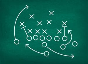 Plan Green board Footbal