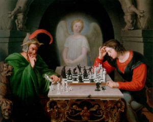 angel,chess,devil,king,thinking