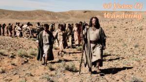 desert, walking, 40 years, biblical