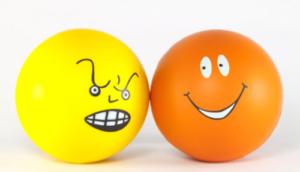 balls, yellow, orange, attitude