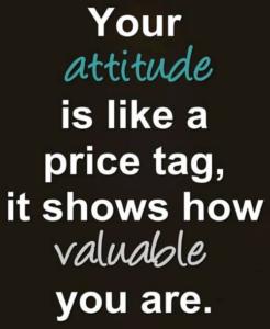 attitude, value, price, tag
