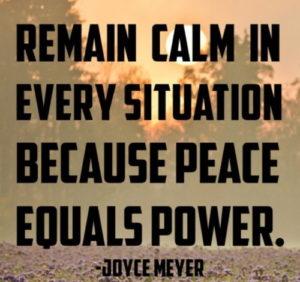 coronavirus, COVID-19, peace, power, calm